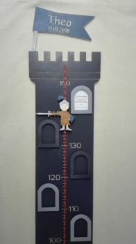 Individual christening gift Knight balance with scale and picture frame